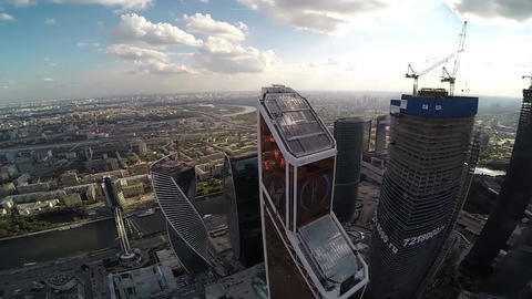 Mercury City Tower. Moscow city. Modern architecture buildings. Moscow Downtown