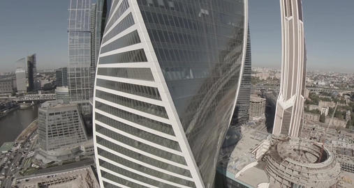 Moscow International Business Center referred to as Moscow City Footage