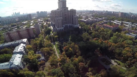 Highest Moscow Building Triumph-Palace. Exterior of skyscraper Filmmaterial