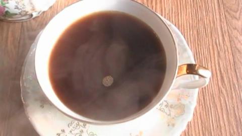 Drink coffee 1 Footage