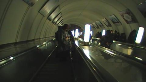 The escalator down Footage