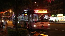 Early morning bus Taipei Taiwan Footage