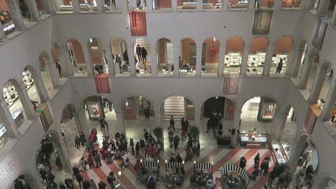 Venice, Italy internal view of store T Fondaco dei Tedeschi Live Action