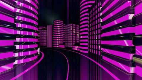 City Night Glow Animation