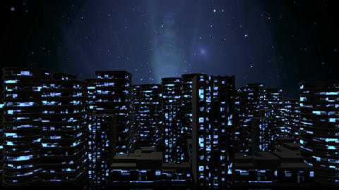 Urban Night City CG動画素材