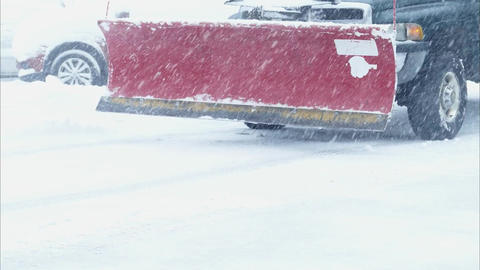 Snow plowing in winter time 2 Footage
