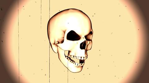 Damaged TV With Rotatitng Skull Animation