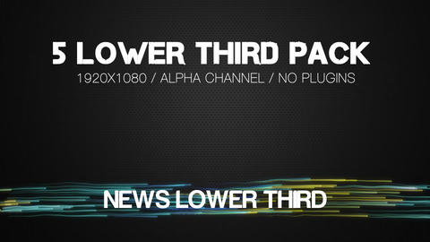 Glow Lines Lower Third After Effects Template