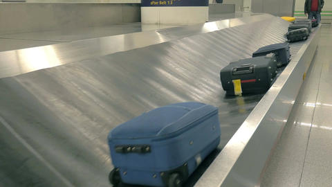 Video of baggage carousel in 4K Footage