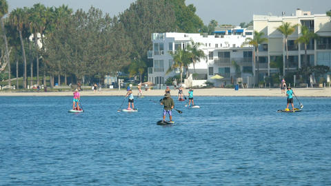 Video of paddleboarding in San Diego Footage
