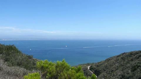 Video of ocean panorama in San Diego in 4K Footage