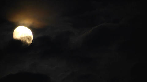 Moon With Clouds Time Lapse Footage