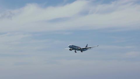 Finnair Airbus A330-300 approaching to landing in Phuket International Airport Footage