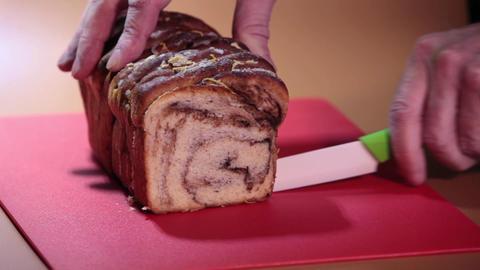 cut up sweet bread Footage