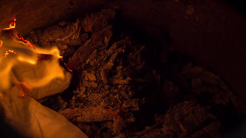 Paper Burning in Fire Filmmaterial