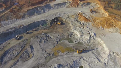 Coal mine and Mining Machines Footage