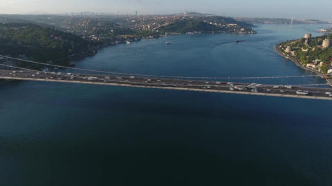 istanbul Bosphorus Bridge Crossing, Turkey Footage