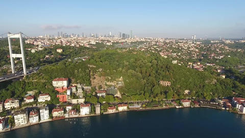 istanbul Skyscrapers Background, Turkey Footage