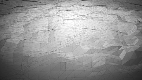 Silver abstract polygonal background with shifting wireframe lines Animation