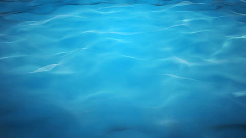 Blue water background with calm waves Animation