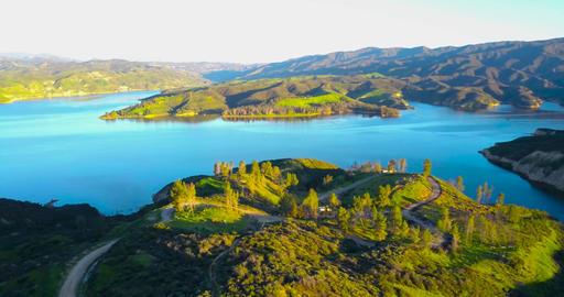 Castaic Lake California Aerial View ビデオ