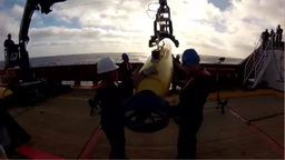 U.S. Navy AUV Bluefin 21 is deployed to search for Malaysia Airlines MH370 Footage