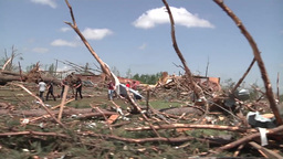 Soldiers conducting search and rescue mission after the tornado in Louisville Footage