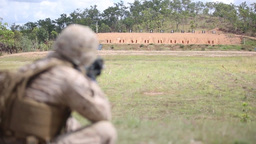 MRF-D Marines Send Rounds Down Range Footage