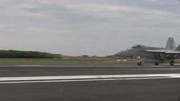 F 18 Hornet Field Carrier Landing Practice-Iwo Jima Footage