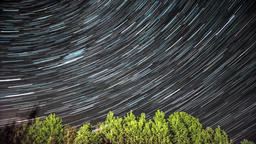 Night timelapse footage of star trails in space Footage