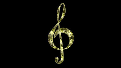 Gold Treble Clef Loop Animation