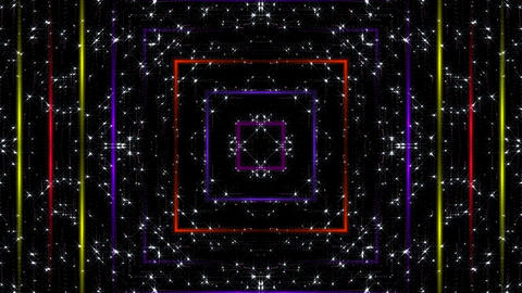 Colored Squares VJ Clip Loop Animation