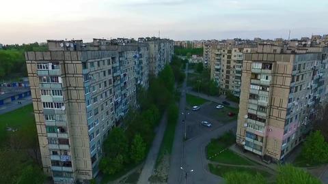 Ukraine, Krivoy Rog, District Damansiy, Fly Footage