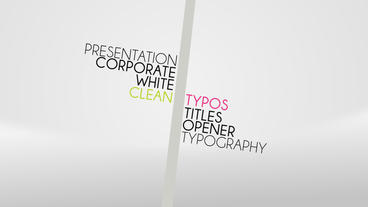 Clean Typos After Effects Template