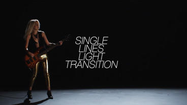 Single Lines Light Transition After Effects Project