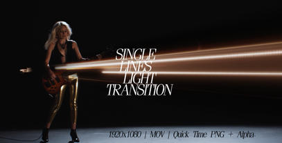 Single Lines Light Transition After Effects Templates