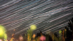Night timelapse footage of star trails in space Filmmaterial