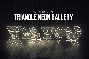 Triangle Neon Gallery After Effects Project