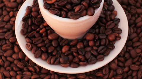 Rotating Coffee Beans 2 Footage
