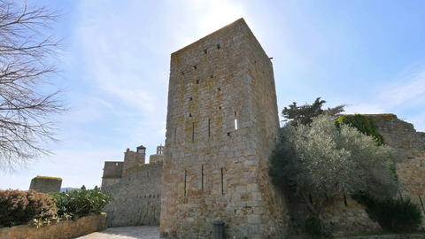 Medieval Gothic Stone Town Steady Cam Low Point of View Archivo