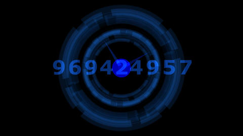 Number blue Animation