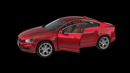 generated cars sedan spinning, loop, animation, Alpha channel Animation