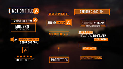 Modern Titles V2 After Effects Template