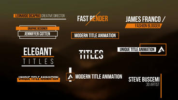 Modern Titles V4 After Effects Template