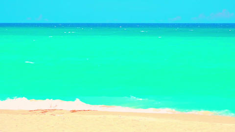 Beautiful shot of turquoise colored tropical ocean Footage