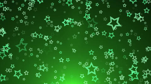 Bokeh and Star With Lens Flares Abstract Festive Shiny Particle Background Animation