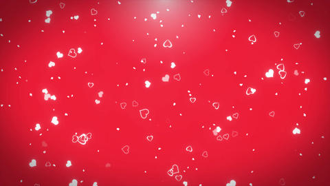 4k Romantic flying heart lovely heart backdrop Seamless loop . For St. Valentine