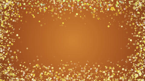 Beautiful Glittering Golden Particles Motion loop Background Animation