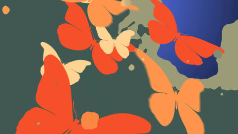 Beautiful Butterflies with matte channel Animation