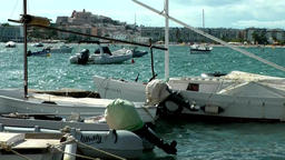 Europe Spain Balearic Ibiza towns and villages 064 eivissa city harbor Footage